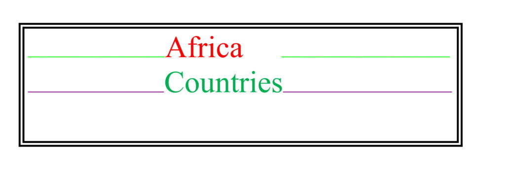Universities of Africa Countries