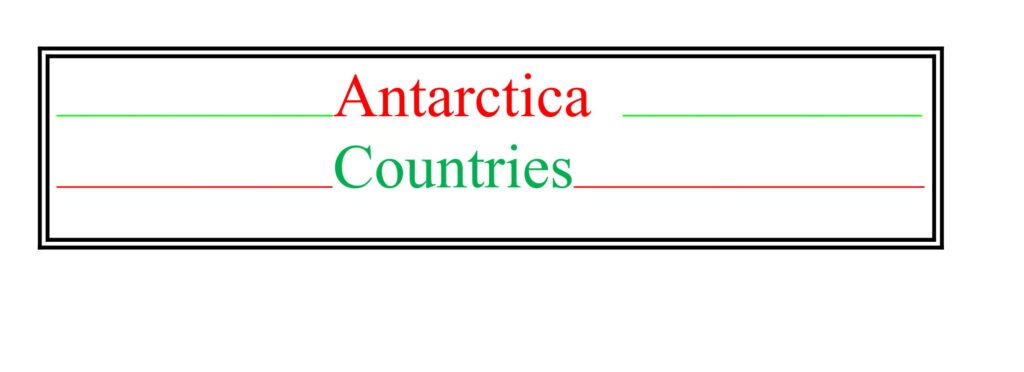 Universities of Antarctica Countries
