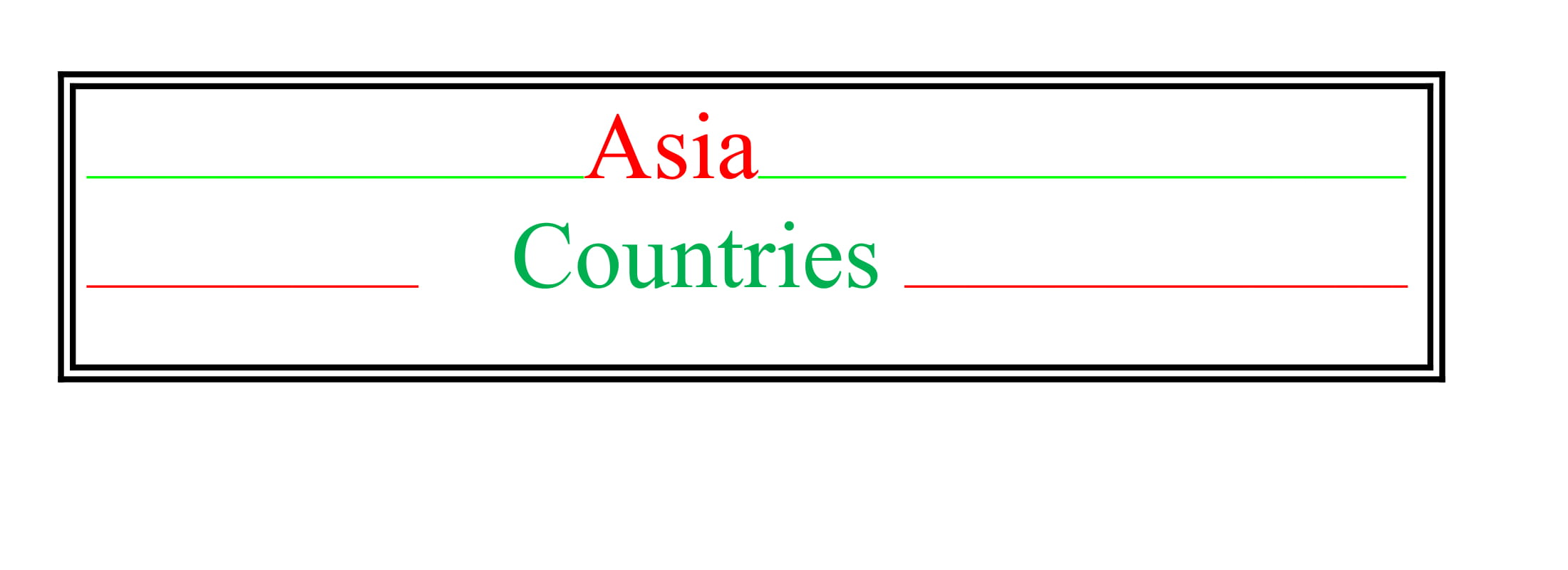Universities of Asia Countries