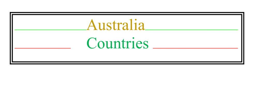 Universities of Australia Countries