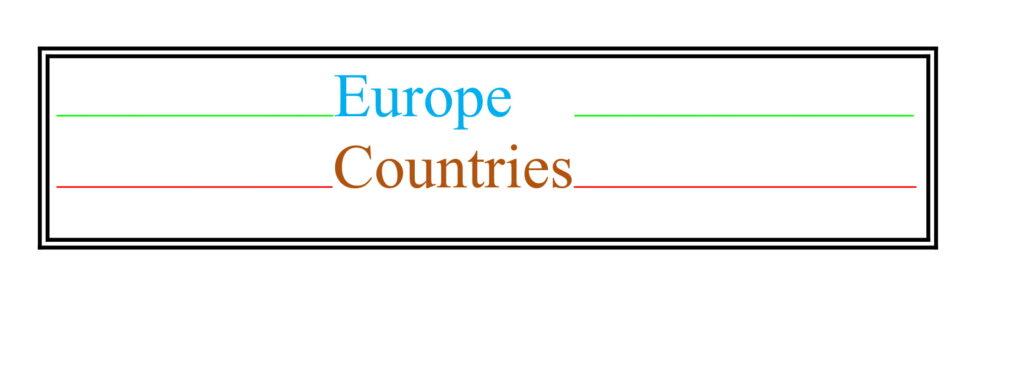 Universities of Europe Countries