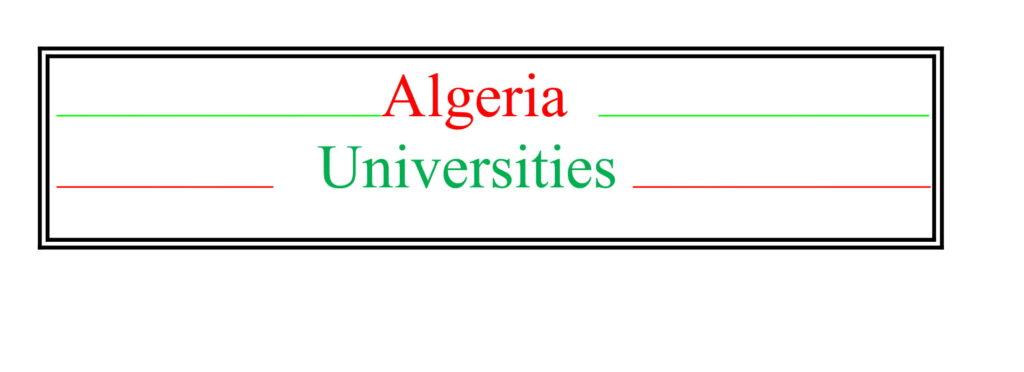 Top Universities in Algeria