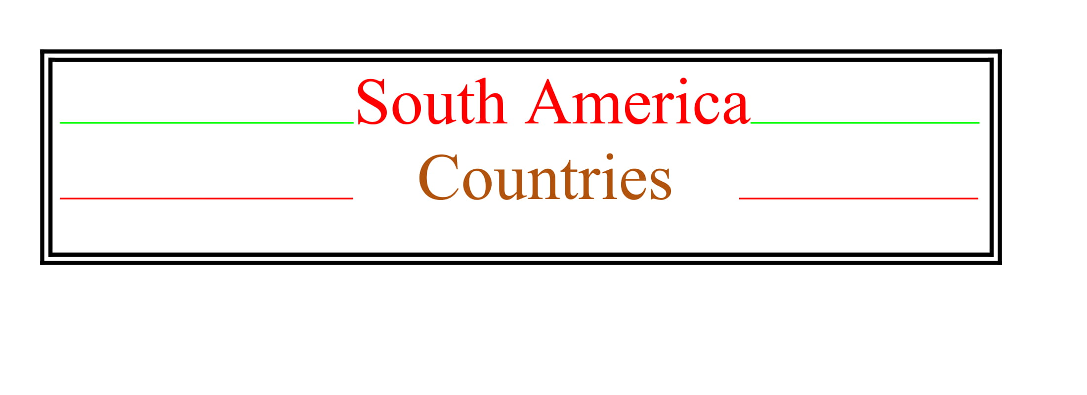 Universities of South America Countries