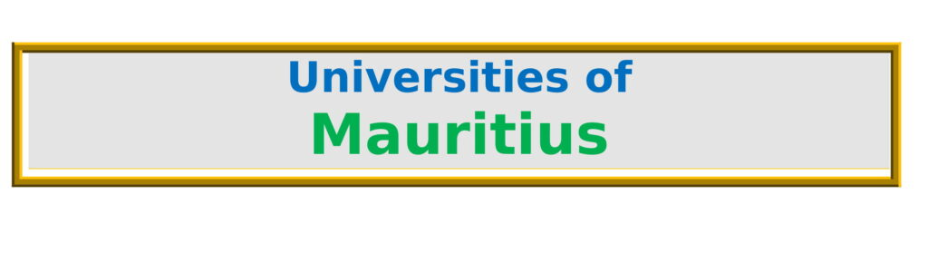 List of All Universities in Mauritius