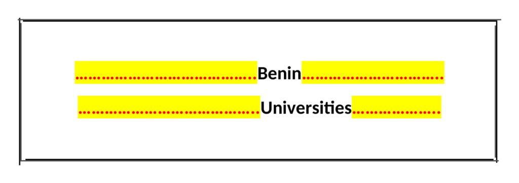 List of Benin Universities