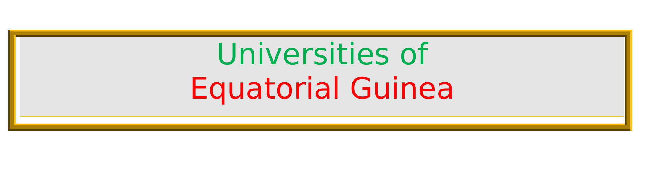 List of Universities in Equatorial Guinea