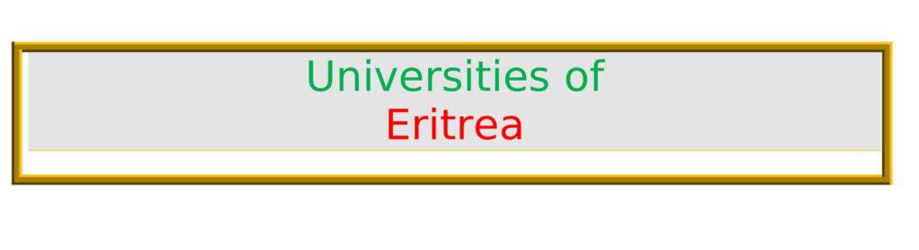 List of Universities in Eritrea