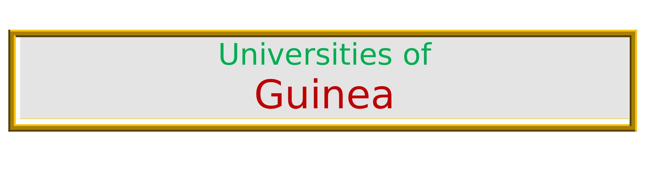 List of Universities in Guinea