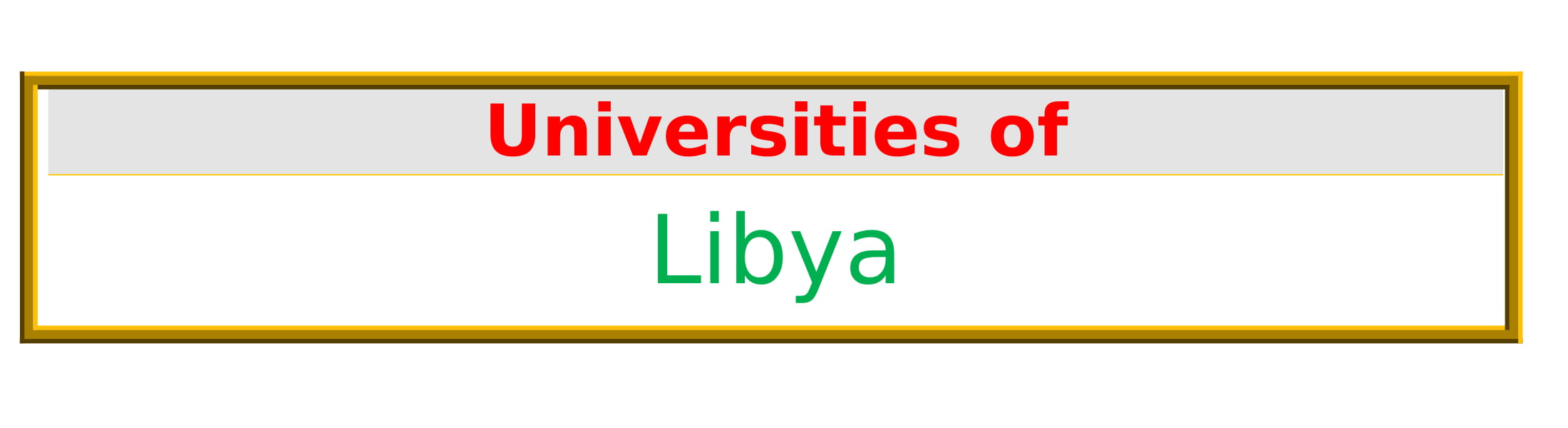 List of Universities in Libya