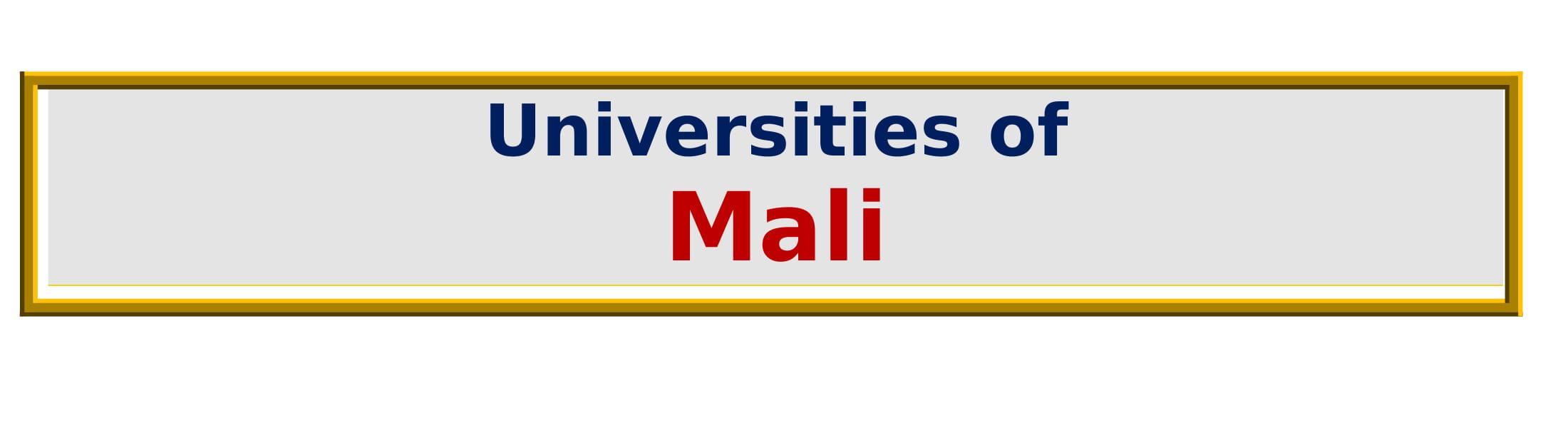 List of Universities in Mali