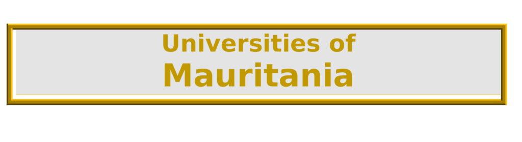List of Universities in Mauritania