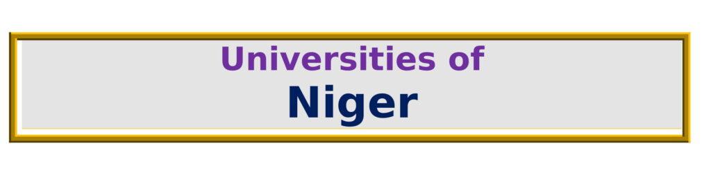 List of Universities in Niger