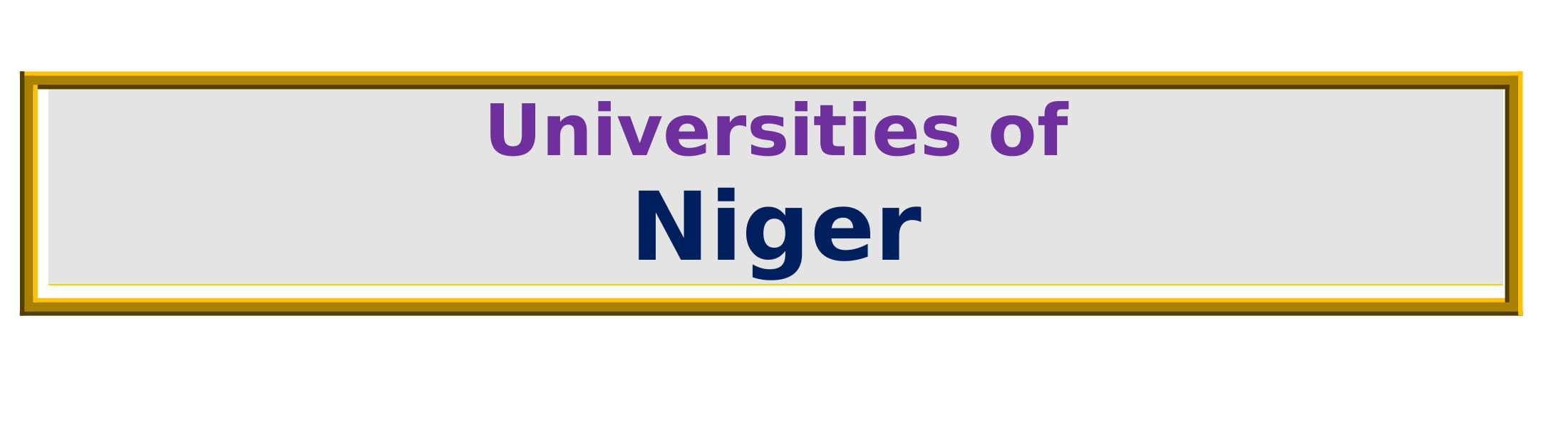 List of Universities in Niger