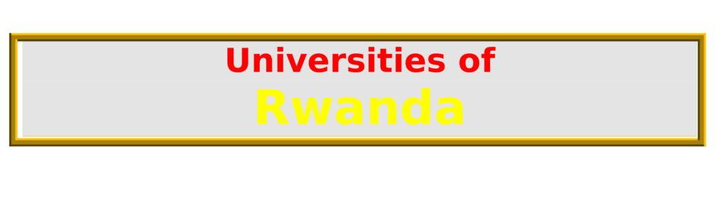 List of Universities in Rwanda