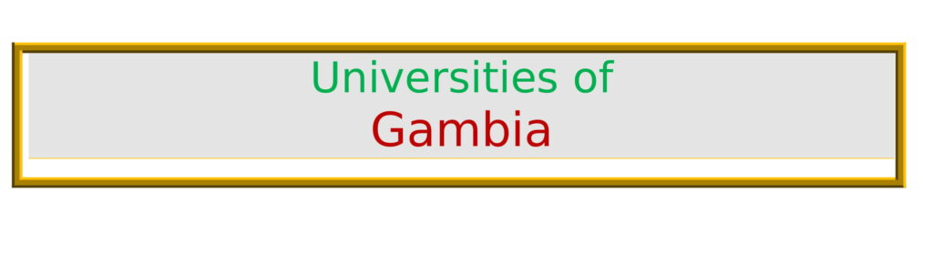 List of Universities in the Gambia