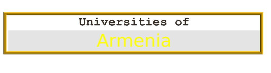List of Universities in Armenia