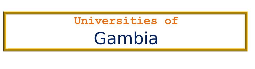 List of Universities in Gambia