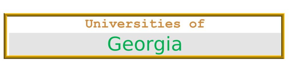 List of Universities in Georgia