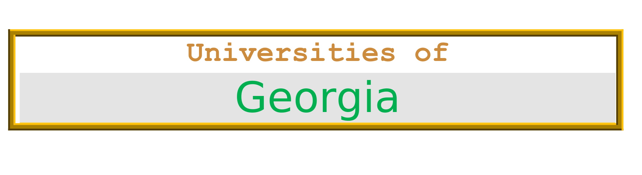 List of Universities in Georgia