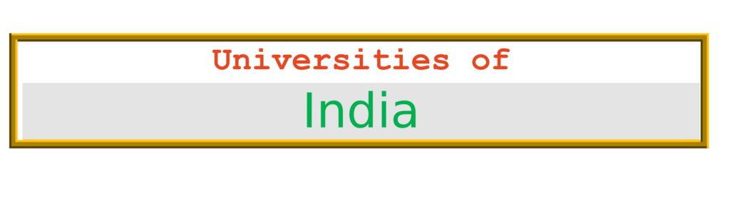 List of Universities in India