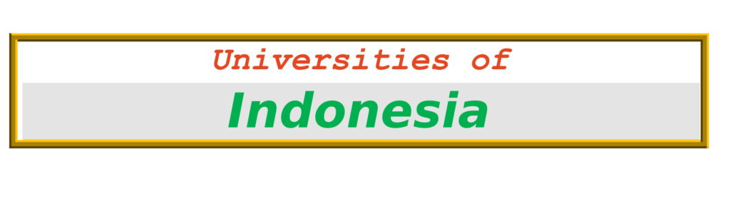 List of Universities in Indonesia