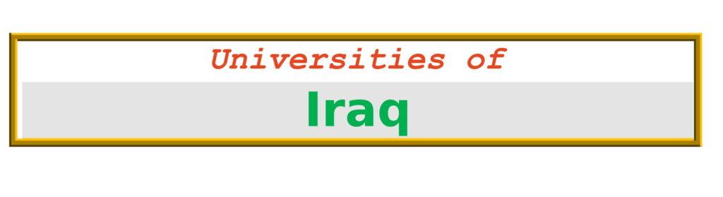 List of Universities in Iraq