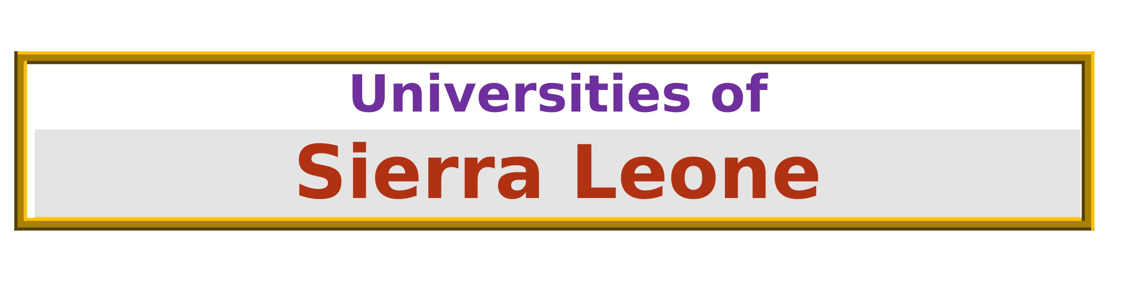 List of Universities in Sierra Leone
