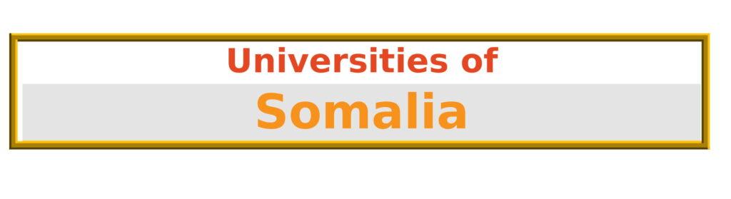 List of Universities in Somalia