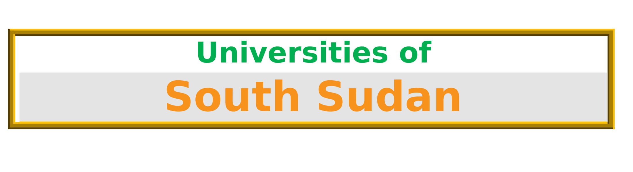 List of Universities in South Sudan