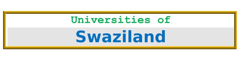 List of Universities in Swaziland