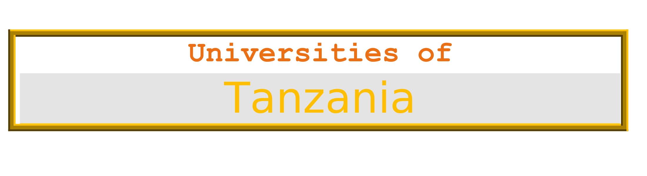 List of Universities in Tanzania