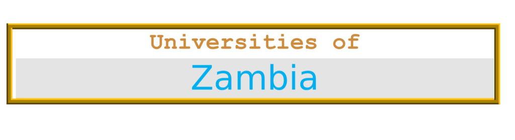 List of Universities in Zambia