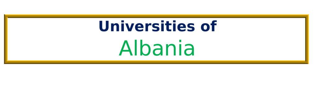 List of Universities in Albania