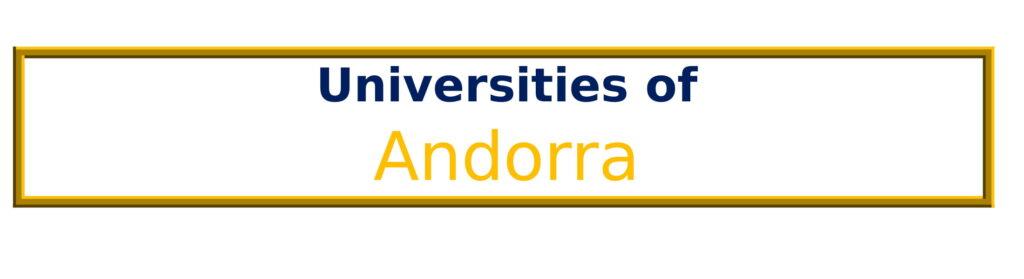 List of Universities in Andorra