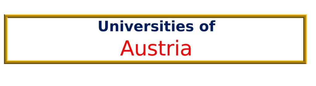 List of Universities in Austria