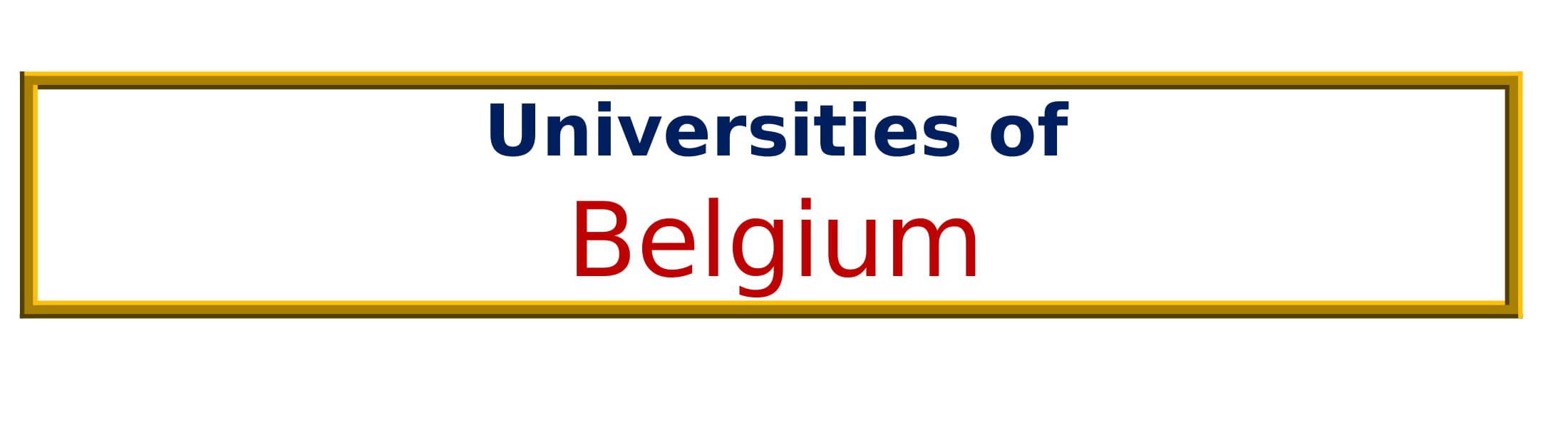 List of Universities in Belgium