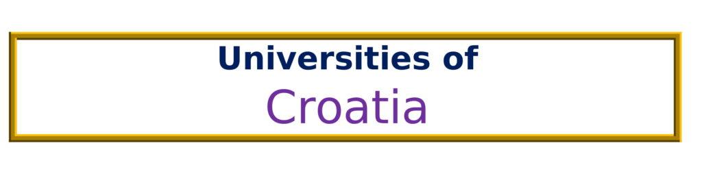 List of Universities in Croatia