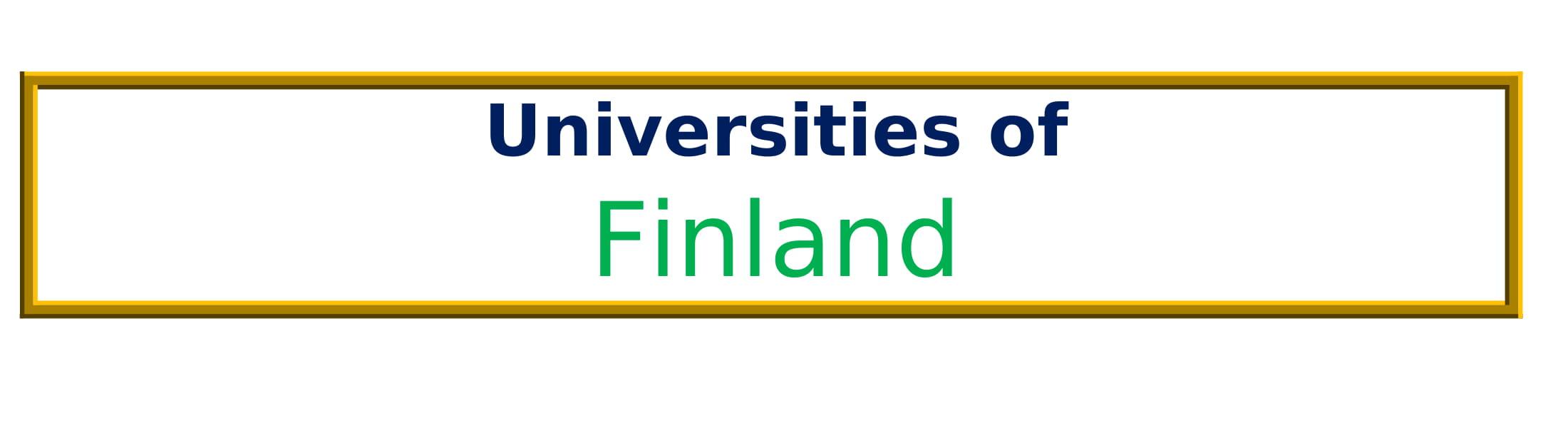 List of Universities in Finland