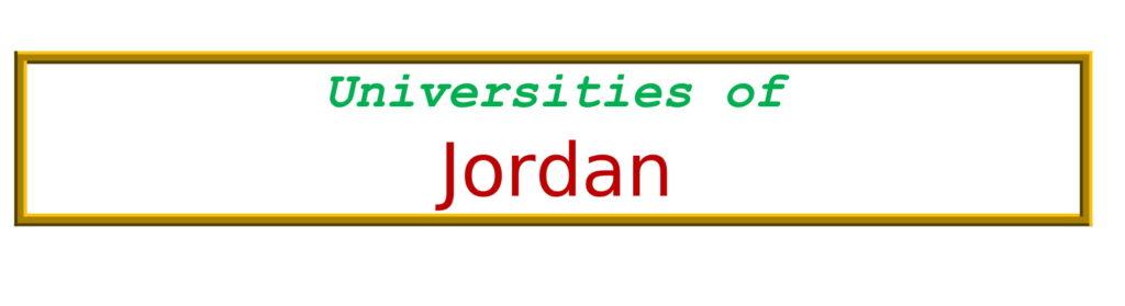 List of Universities in Jordan