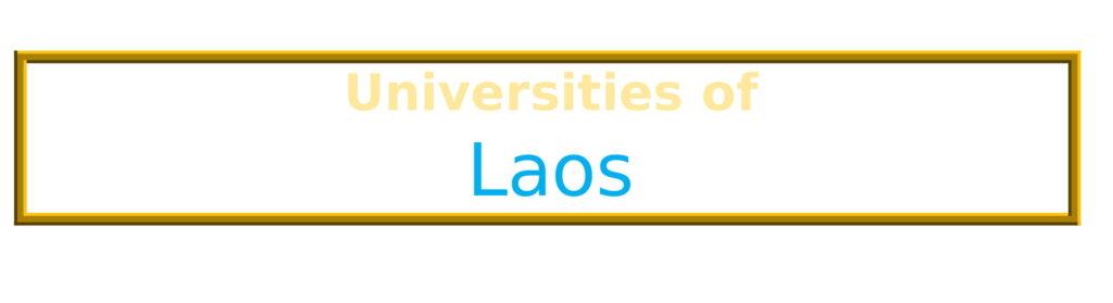 List of Universities in Laos