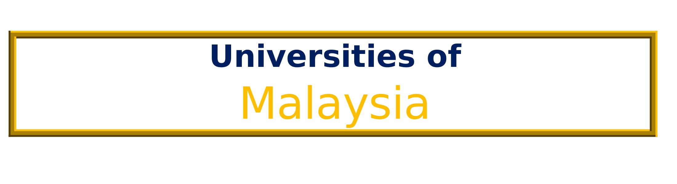 List of Universities in Malaysia