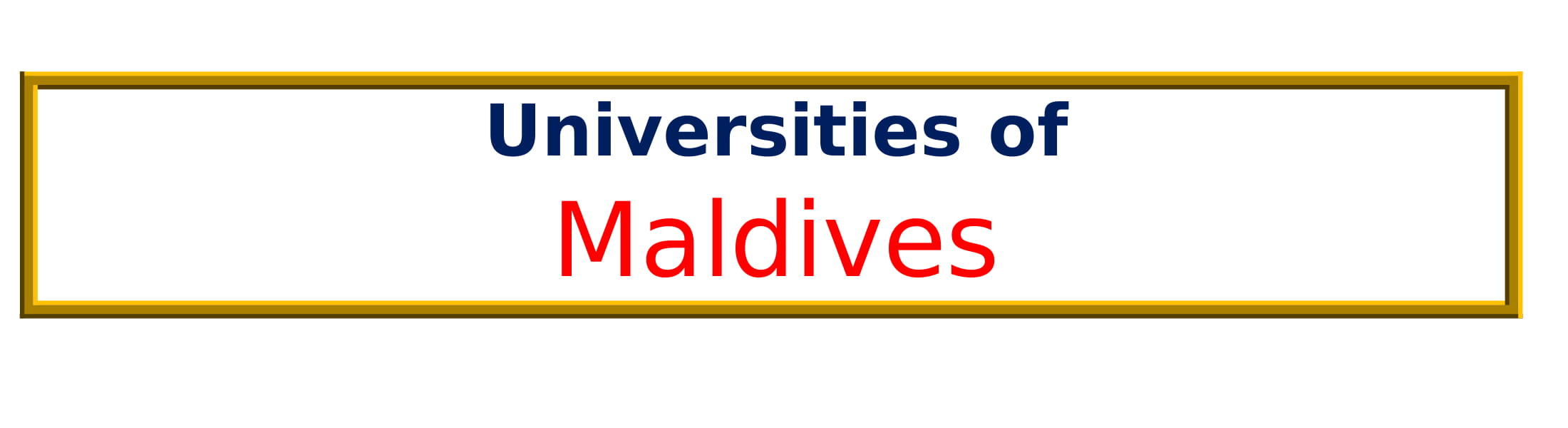 List of Universities in Maldives