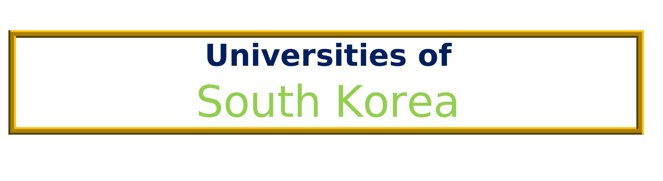 List of Universities in South Korea