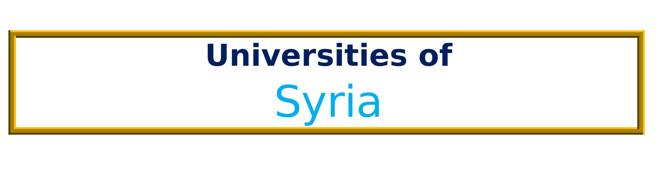 List of Universities in Syria