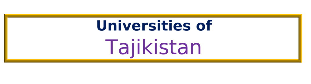 List of Universities in Tajikistan