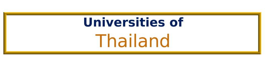 List of Universities in Thailand