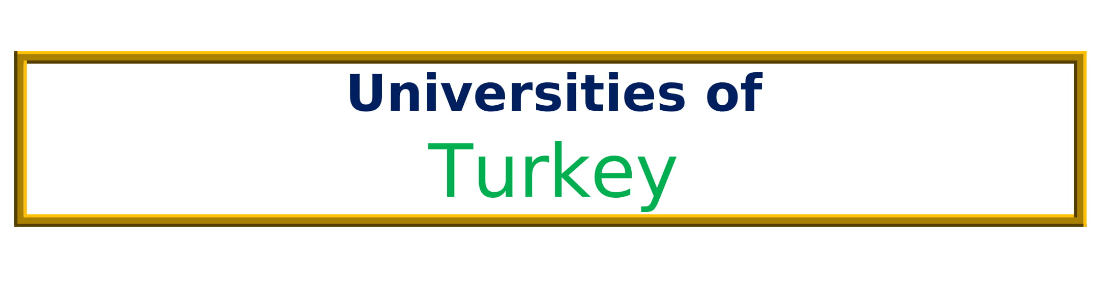 List of Universities in Turkey