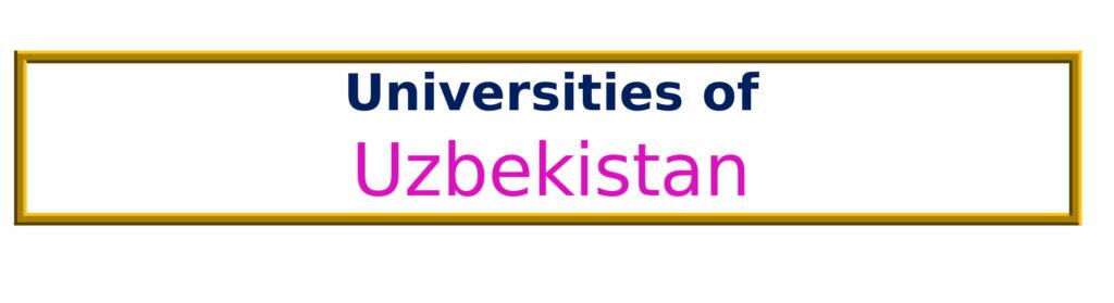 List of Universities in Uzbekistan