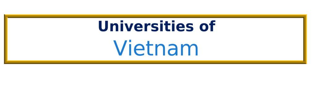 List of Universities in Vietnam