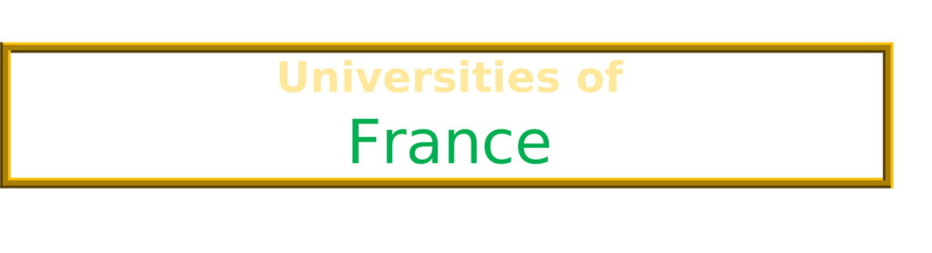 List of Universities in France